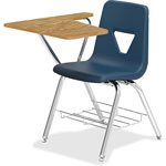 "Lorell Tablet Arm Student Desk, 20"" x 29-1/2"" x 30"", 2/CT, Navy"