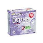 Memorex DVD+R Recordable Discs on Spindle, 4.7 GB, Silver, 100/Pack
