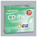 Memorex CD RW Discs, 700 MB/80Min, 16x 24x Rewrite Speed, 25 Pack Spindle