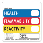 LabelMaster Warehouse Self-Adhesive Label, 2 x 2, HEALTH, FLAMMABILITY, REACTIVITY, 500/Roll