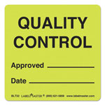 LabelMaster Warehouse Self-Adhesive Label, 3 x 3, QUALITY CONTROL APPROVED/DATE, 500/Roll