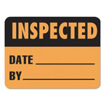 LabelMaster Warehouse Self-Adhesive Label, 2 x 1 1/2, INSPECTED/DATE/BY, 500/Roll