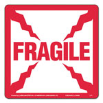 LabelMaster Shipping and Handling Self-Adhesive Label, 4 x 4, FRAGILE, 500/Roll