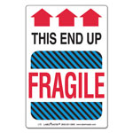 LabelMaster Shipping and Handling Self-Adhesive Label, 4 x 6, THIS END UP, FRAGILE, 500/Roll