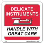 LabelMaster Shipping/Handling Self-Adhesive Label, 6 x 6, DELICATE INSTRUMENTS, 500/Roll