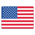 LabelMaster Warehouse Self-Adhesive Label, 4 x 2 1/2, USA FLAG, 100/Pack