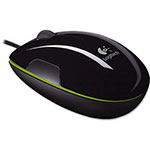 Logitech LS1 Laser Mouse, 4 Buttons/Scroll, Black/Green