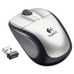 Logitech M305 Wireless Optical Mouse, Two-Button/Scroll, Silver