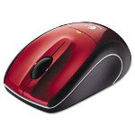 Logitech M505 Wireless Mouse, Unifying USB Receiver, Red