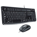 Logitech MK120 Wired Desktop Set, Keyboard/Mouse, USB, Black