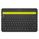 Logitech K480 Bluetooth Multi-Device Keyboard, Bluetooth, 12 1/5 x 1 3/5 x 7 9/10, Black