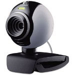 Logitech Webcam C250, Built-In Microphone, Universal Clip, 3 Megapixel, Black