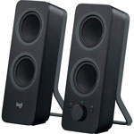 "Logitech Computer Speakers, w/Bluetooth, 3-1/2""x4-9/10""x9-1/2"", 2/ST, Black"