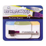 Quartet Dry Erase Standard Magnets Three Pack, 3 x 3