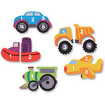 Learning Resources Counting Vehicle Puzzle, 4 Pcs, Ast