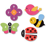 Learning Resources Counting Garden Puzzle, 4 Pcs, Ast