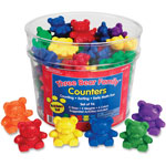 Learning Resources Three Bear Family Counters, Rainbow Set, 96Pcs, Multi
