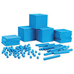 Learning Resources Plastic Base Ten Class Set, 15 1/2 x 11.4 x 4 1/2, Blue
