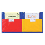 Learning Resources Two Pocket Organization Station, Nylon, 24 x 12 1/4, Red/Yellow/Blue