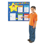 Learning Resources Star Student Pocket Chart, 28X28, 5 Cards
