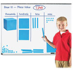 "Learning Resources Giant Magnetic Base Ten Set, 6.75""L x 6.75""H, Blue"