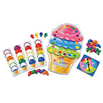 "Learning Resources Rainbow Color Cones Game, 30 Scoop Cards, 4 Cone Cards, 17.5"" x 10.5"" Board"