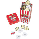 "Learning Resources POP for Sight Word Game, Red/White, 100 Popcorn Cards, 3""L x 3""W x 6.25""H"