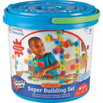 Learning Resources Gears! Gears! Gears! Super Set Construction Set, 150 Pieces