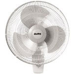 "Lasco Oscillating Wall Fan, 16"", White"