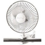 "Lasco Personal Fan W/Clip, 6"", White"