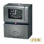 Lathem Time 4021 Automatic Time Clock, Day Of Week/Hours/Minutes, Charcoal