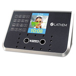 "Lathem Time Face Recognition Time Clock System. 500 employees, Gray, 7-1/4"" x 3-1/2"" x 5-1/4"""