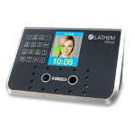 Lathem Time Attendance System, Facial ID, Touchless, Black/Silver
