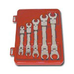 Lock Technology 5 Piece SAE Flex Head Line Wrench Set