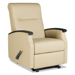 La-Z-Boy Florin Collection Room Saver Recliner, Taupe Vinyl