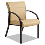 La-Z-Boy Gratzi Reception Series Guest Chair with Arms, Taupe Vinyl