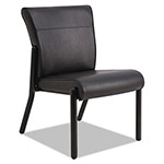 La-Z-Boy Gratzi Reception Series Armless Guest Chair, Black Vinyl