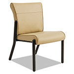 La-Z-Boy Gratzi Reception Series Armless Guest Chair, Taupe Vinyl