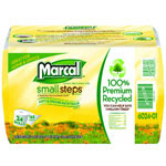 Marcal Grab'n'Go 100% Recycled Bath Tissue, 2-Ply, 4.3 x 3.66, 168/Roll