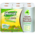 Marcal Premium Recycled Giant Roll Towels, 11 x 5 7/10, White, 140/Roll