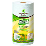 Marcal Premium Recycled Jumbo Towels, 2-Ply, 11 x 9, White, 210/Roll