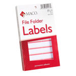 "Maco Tag & Label File Folder Labels, 9/16""x3 7/16"", Coral"