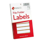 "Maco Tag & Label File Folder Labels, 9/16""x3 7/16"", Tan"