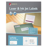 "Maco Tag & Label Shipping Labels, 2""x4"", 1000/BX, White"