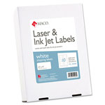 "Maco Tag & Label Shipping Labels, 2""x4"", 2500/BX, White"