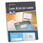 "Maco Tag & Label Address Labels, 1""x4"", 2000/BX, White"