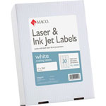 "Maco Tag & Label Address Labels, 1""x2 5/8"", 7500/BX, White"