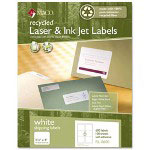 Maco Tag & Label Recycled Laser and InkJet Labels, 3 1/3 x 4, White, 600/Box