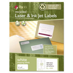 Maco Tag & Label Recycled Laser and InkJet Labels, 2 x 4, White, 1000/Box