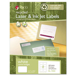Maco Tag & Label Recycled Laser/Inkjet Name Badge Labels, Self-Adhesive, 2 1/3 x 3 3/8, 400/Box